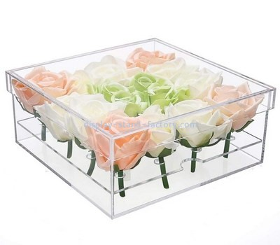Custom clear acrylic rose box NAB-1234