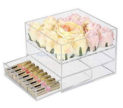 Custom acrylic rose box with drawer organizer NAB-1235