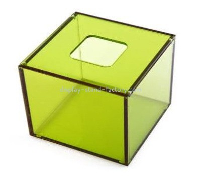 Custom green acrylic napkin holder box NAB-1250