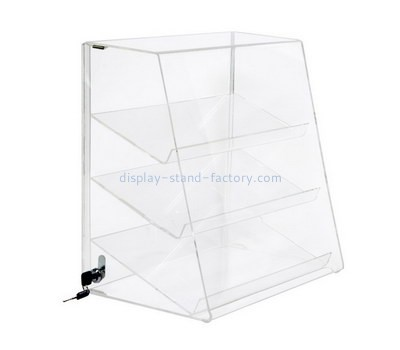 Custom front slanted acrylic display cabinet NAB-1267
