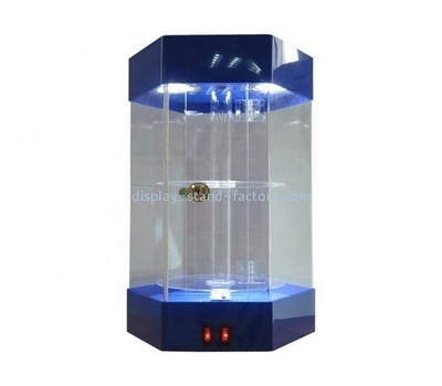 Custom retail hexagon acrylic cabinet NAB-1272