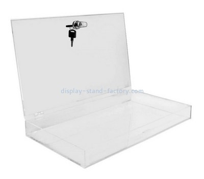 Custom flat acrylic lockable box NAB-1286