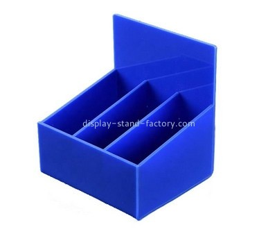 Custom blue acrylic 3 grids box NAB-1297
