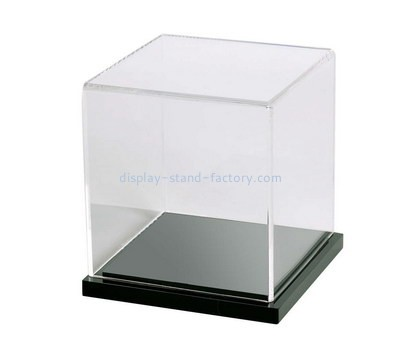Custom 5 sided acrylic display case with black base NAB-1301