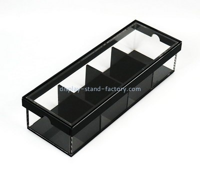 Custom 4 grids acrylic box with black frame NAB-1313