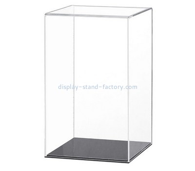 Custom 5 sided acrylic display case with black base NAB-1314