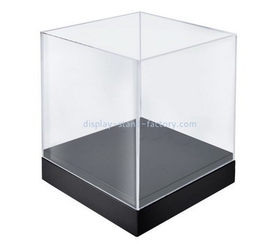 Custom 5 sided acrylic box with black base NAB-1318