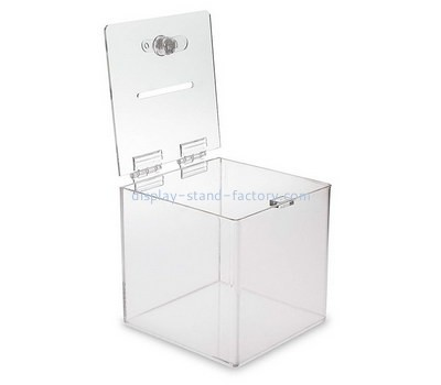 Custom clear acrylic lockable voting box NAB-1342