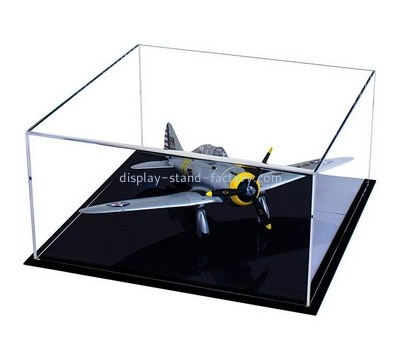 Custom acrylic airplane model display case NAB-1360