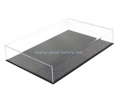 Custom 5 sided acrylic box with black base NAB-1367