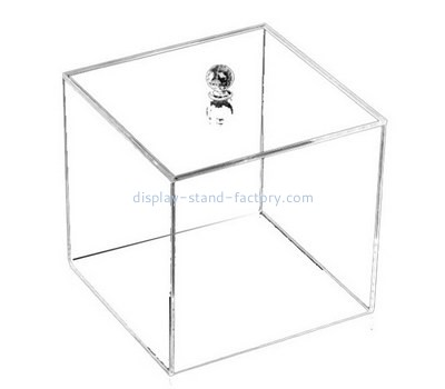 Custom square clear acrylic box with lid NAB-1378