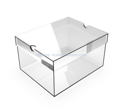 Custom clear acrylic box with lid NAB-1383