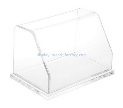 Custom front slanted clear acrylic display case NAB-1385