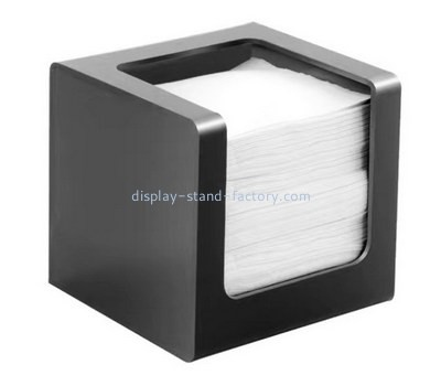 Custom black acrylic tissue paper box NAB-1386