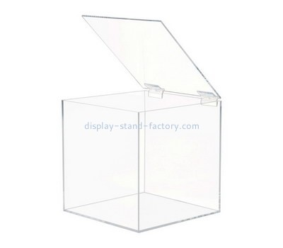 Custom squar clear acrylic box with lid NAB-1392