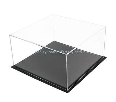 Custom 5 sided display case with black base NAB-1401