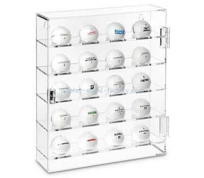 Custom clear acrylic golf balls display cabinet NAB-1403