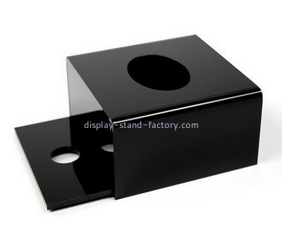 Custom black acrylic tissue box NAB-1412