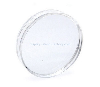 Custom round acrylic stamp block with finger groove NBL-021