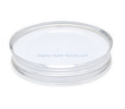 Custom round acrylic block with finger groove NBL-037