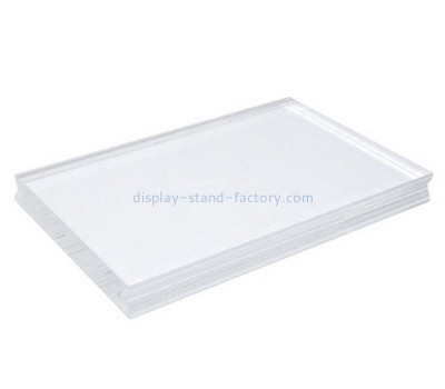 Custom acrylic stamping block with finger groove NBL-047