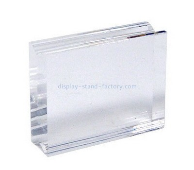 Custom clear acrylic stamp block with finger groove NBL-048