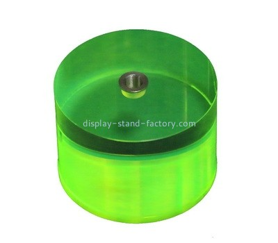 Custom round green acrylic display block NBL-049