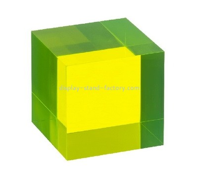 Custom color acrylic display cube NBL-093