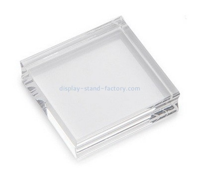 Custom clear acrylic stamp block with finger groove NBL-144
