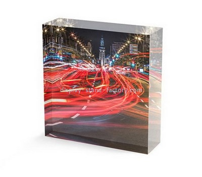 Custom laser cutting perspex UV printing photo block NLC-036
