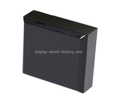 Custom laser cutting black perspex block NLC-070