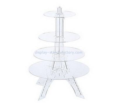 Custom 4 tiers acrylic cake display stands NFD-212