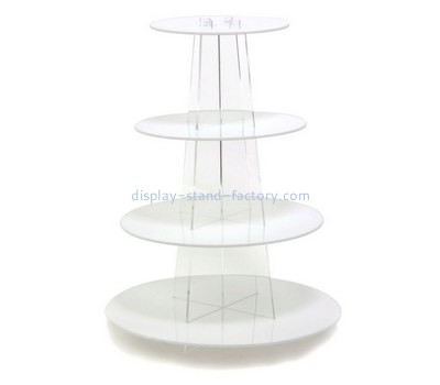 Custom 4 tiers round acrylic cake display stands NFD-254