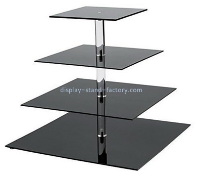 Custom 4 tiers acrylic cake and cupcake display stands NFD-257