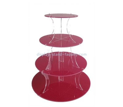 Custom tiered round acrylic cake display stands NFD-261