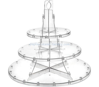 Custom 3 tiers round acrylic cake display stands NFD-264