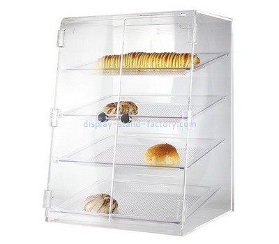 Custom 4 tiers acrylic bread display case NFD-277