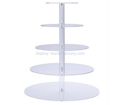 Custom 5 tiers round acrylic display stands NFD-282