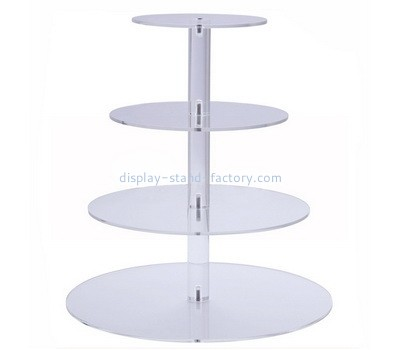 Custom 4 tiers acrylic cake display stands NFD-281