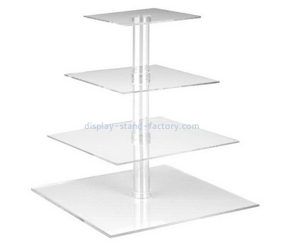 Custom 4 tiers plexiglass cake display stands NFD-289