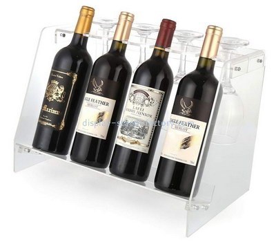 Custom acrylic wine bottles and glasses display stands NFD-312