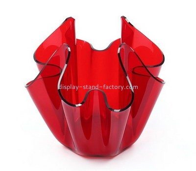 Custom red acrylic candies container NFD-316