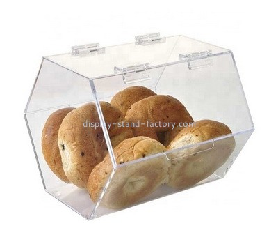 Custom acrylic double doors bread storage box NFD-329