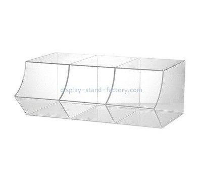 Custom 3 grids acrylic candy display case NFD-345