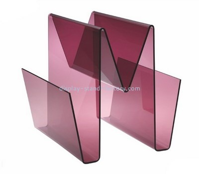 Custom W shape acrylic magazine racks NBD-603